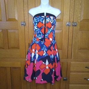 Peter Pilotto NWOT floral strapless party dress
